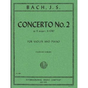 Bach, J.S. - Concerto No. 2 in E Major BWV 1042 for Violin and Piano - by Galamian - International
